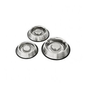 Karlie Slim & Slow Stainless Steel Dog Bowl