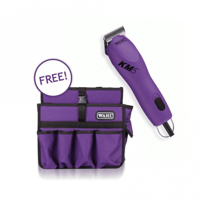 Wahl KM5 Clipper & FREE Purple Tool Bag Bundle