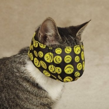 Lined Printed Cat Muzzle