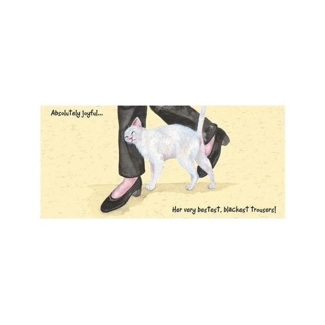 Magnificent Moggies Greeting Card - Black Trousers