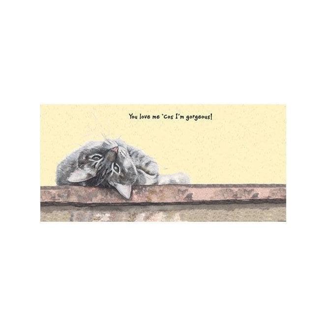 Magnificent Moggies Greeting Card - Oscar