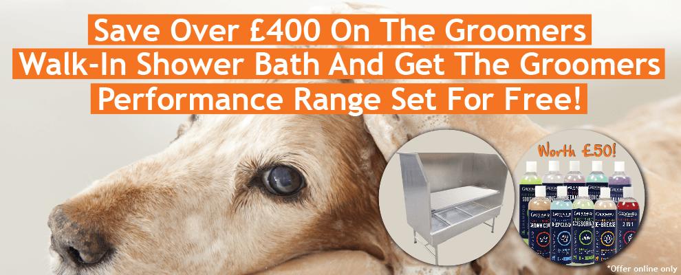 FREE Groomers Performance Shampoo Set When You Buy Walk-In Bath