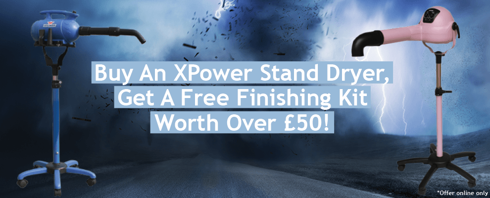 Buy The XPower Stand Dryer, Get A FREE Finishing Kit Worth Over £50