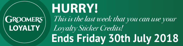 Last Week For Loyalty Sticker Credits!
