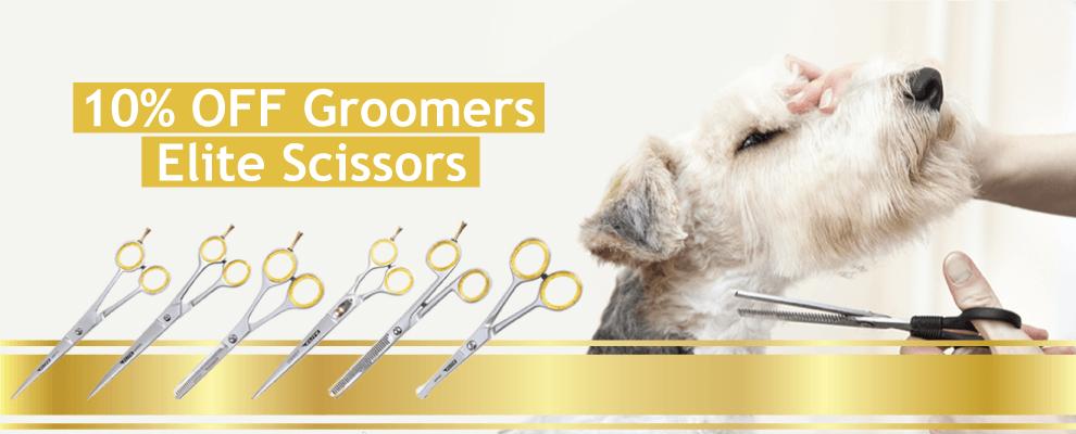 10% OFF Groomers Elite Scissors
