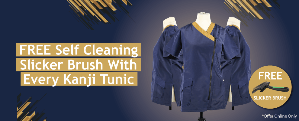 FREE Self Cleaning Slicker Brush With Every Tunic