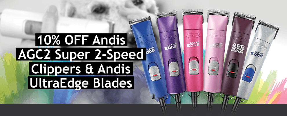 10% OFF Andis AGC2 Super 2-Speed Clippers & Andis UltraEdge Blades