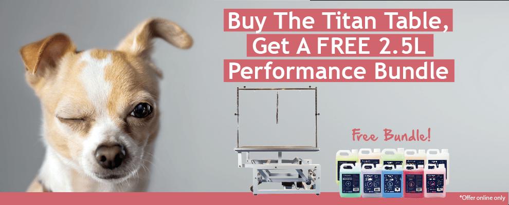 Buy The Titan Table, Get a FREE 2.5L Performance Bundle