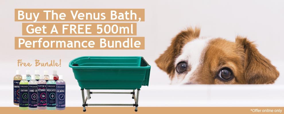 Buy The Venus Bath, Get A FREE 500ml Performance Bundle