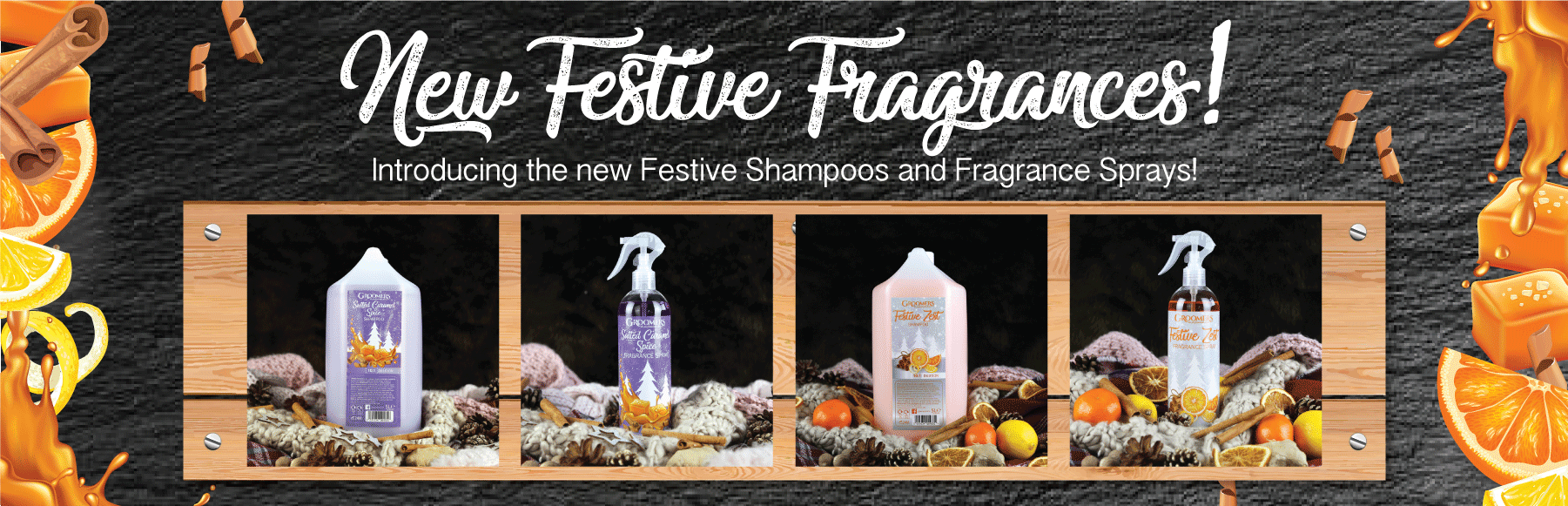 New Christmas Shampoos and Fragrance Sprays!