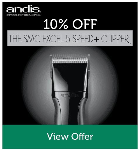 10% OFF Andis SMC Excel 5 Speed+ Clipper