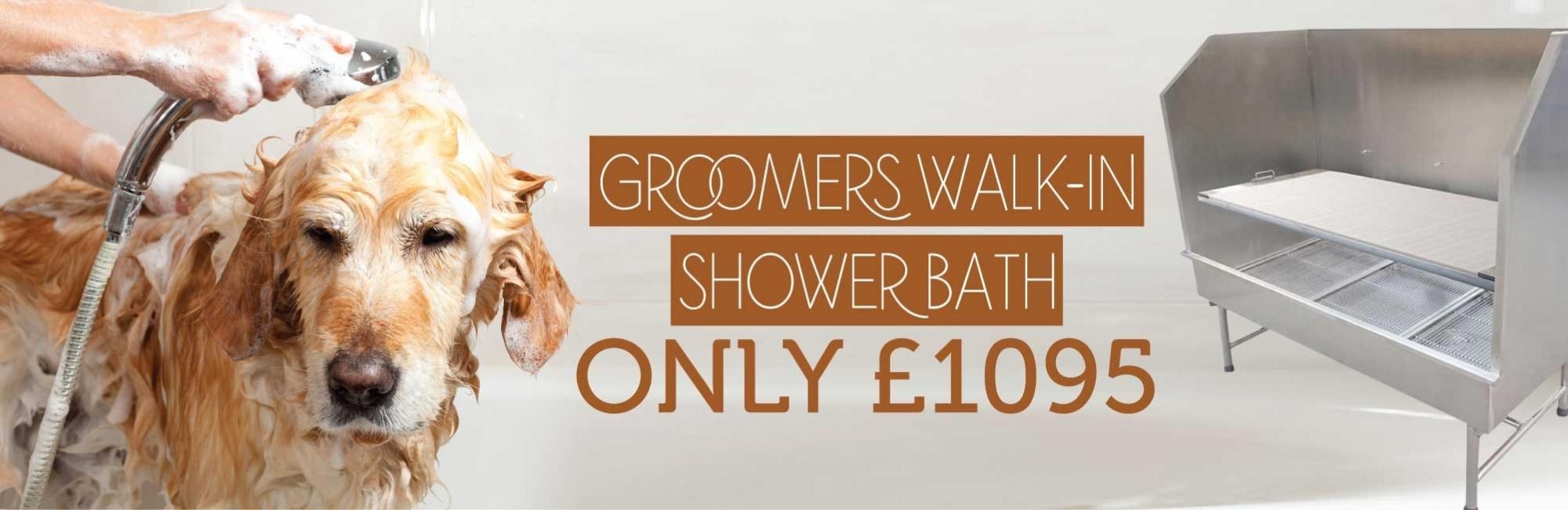 Groomers Walk-In Shower Bath Only £1095