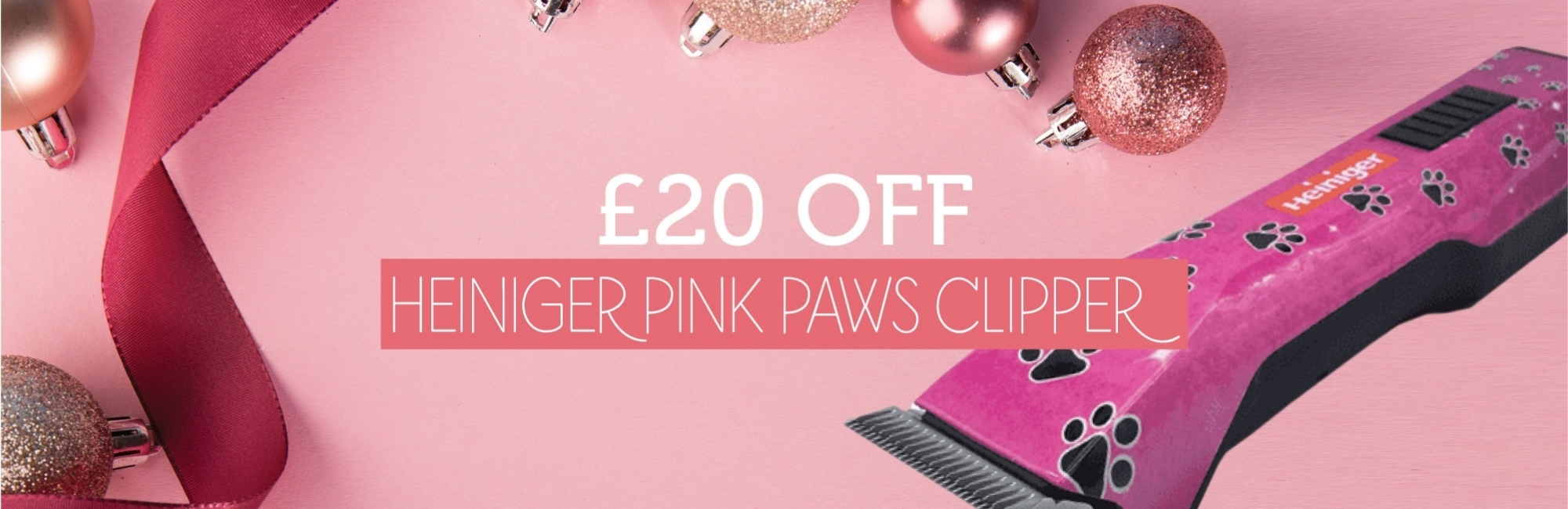 £20 Off Heiniger Pink Paws Clipper