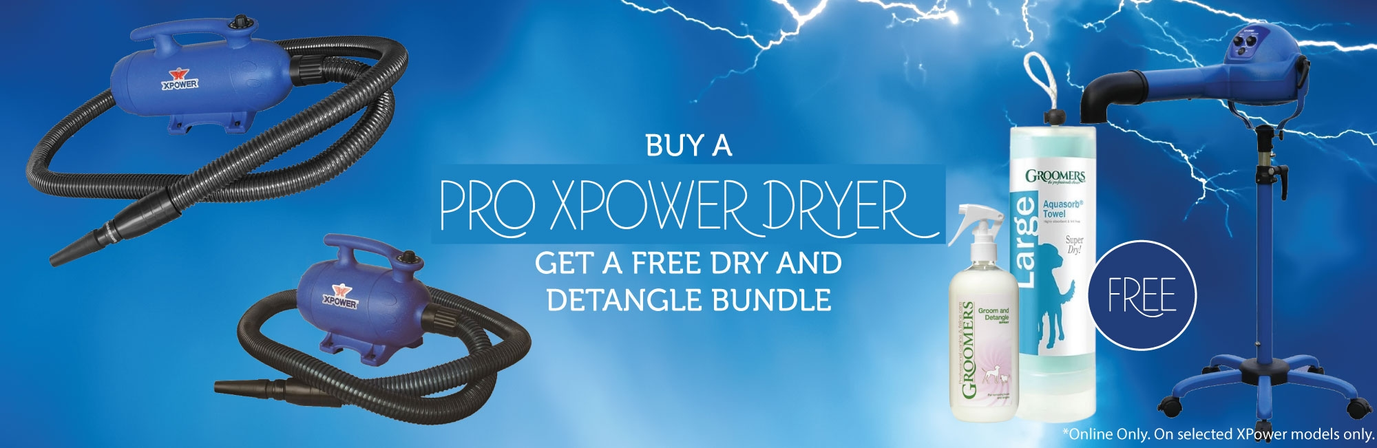 Buy A Pro XPower Dryer, Get A Free Dry And Detangle Bundle