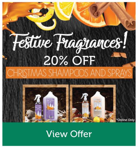20% OFF Christmas Shampoos & Sprays