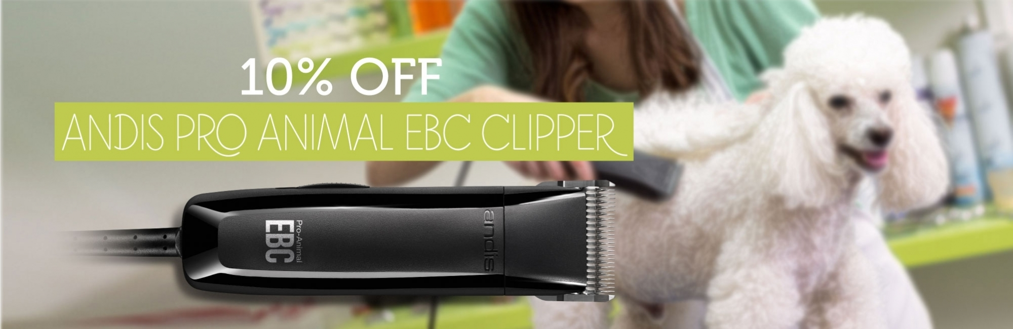 10% OFF Andis Pro Animal EBC Clipper