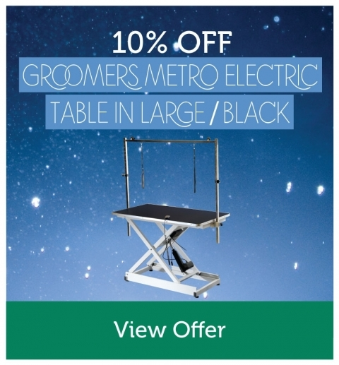 10% Off Groomers Large Size, Black Metro Table