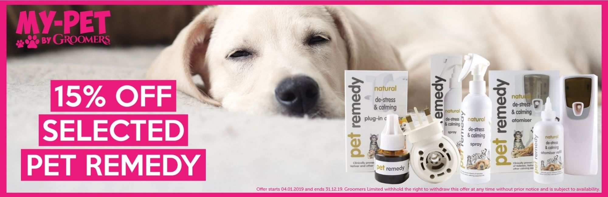 15% Off Selected Pet Remedy