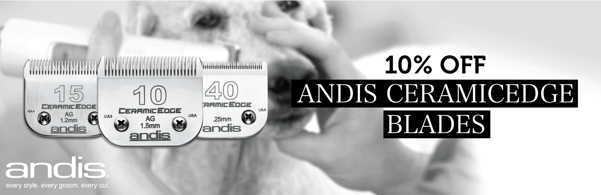 10% Off Andis CeramicEdge Blades
