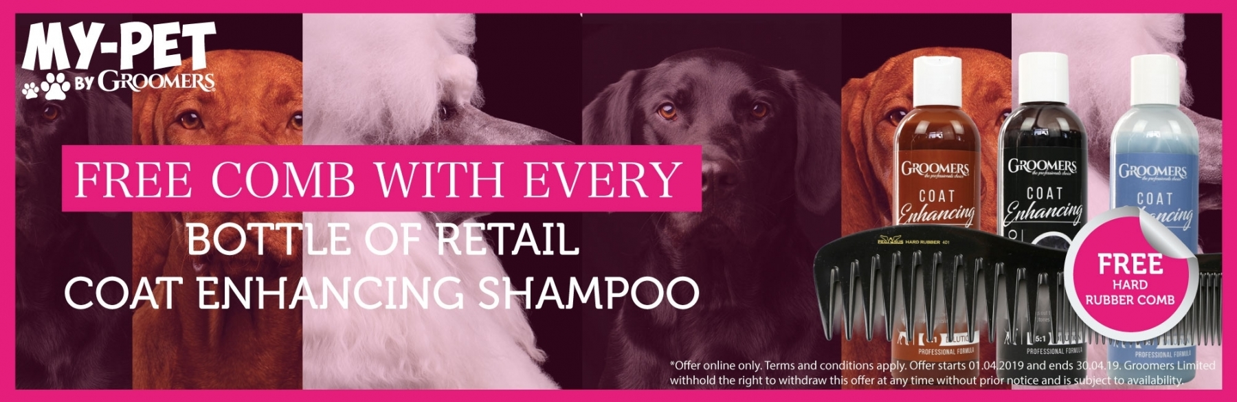 Free Comb With Every 250ml Coat Enhancing Shampoo