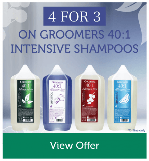 4 for 3 on Groomers 401 Intensive Shampoos