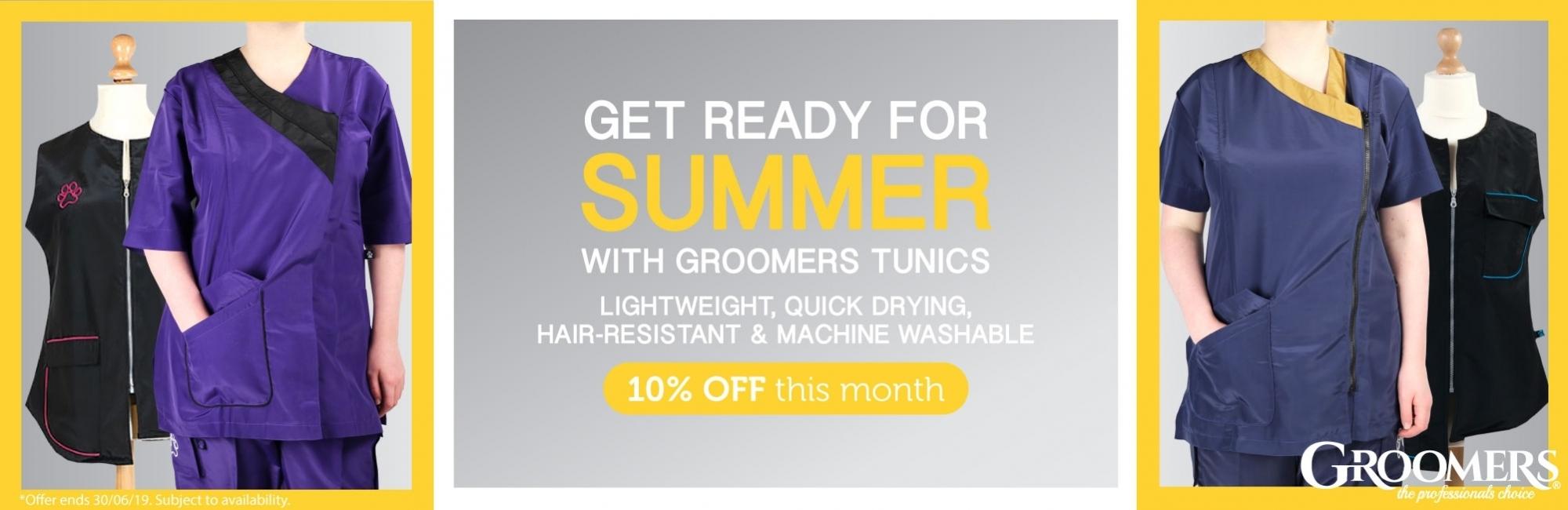 10% Off Groomers Tunics