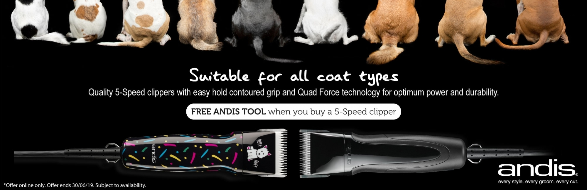 Buy An Andis SMC 5 Speed+ Clipper & Get A Free Andis Tool