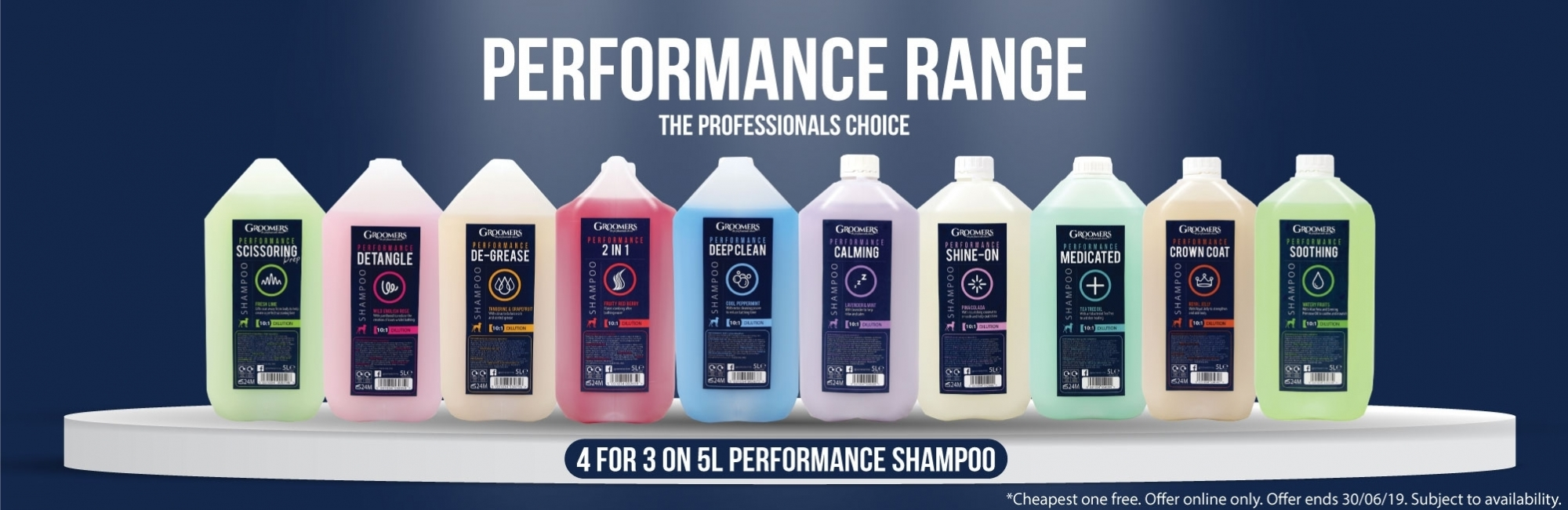 4 For 3 On 5L Groomers Performance Shampoo