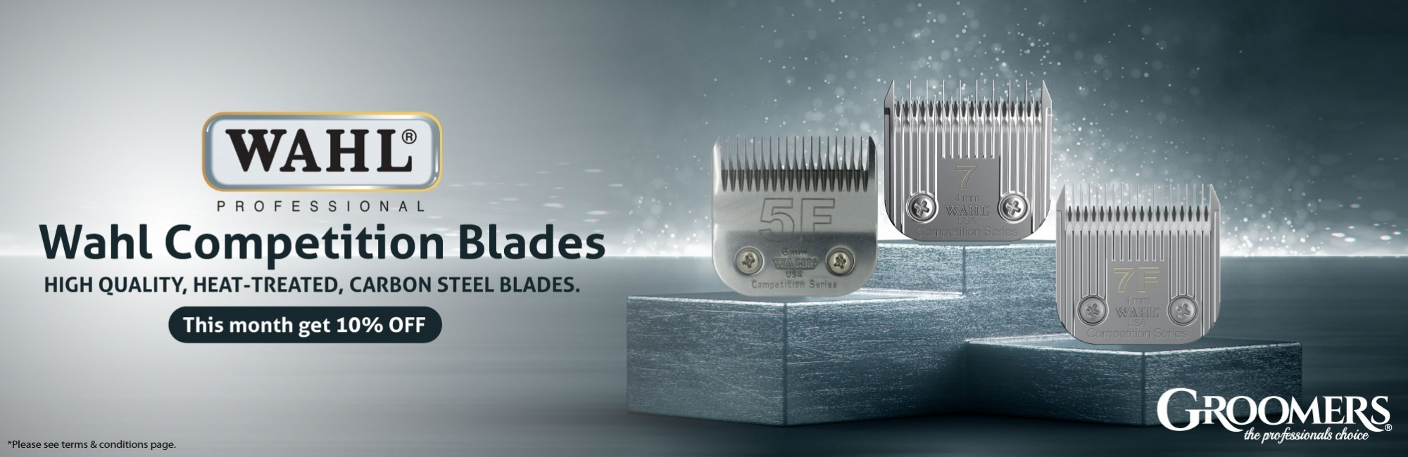 10% Off Wahl Competition Blades