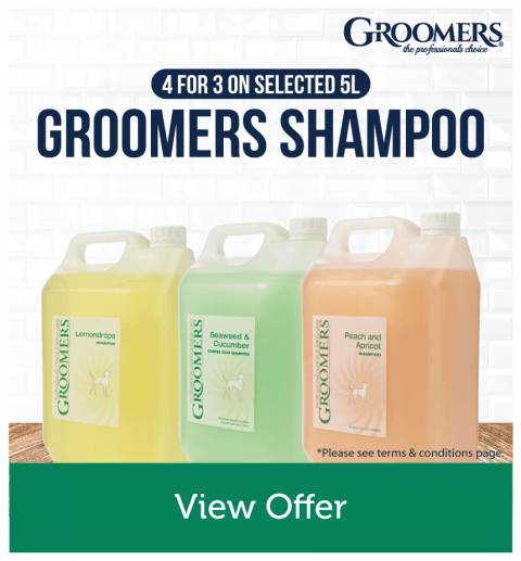 4 For 3 On Selected 5L Groomers Shampoo