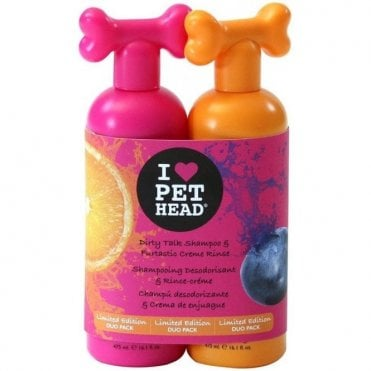 Pet Head Duo Pack - Dirty Talk Shampoo and Furtastic Conditioner