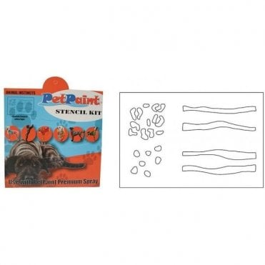 Pet Paint Animal Instincts Stencil Kit