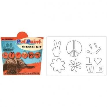 Pet Paint Hipster Hound Stencil Kit