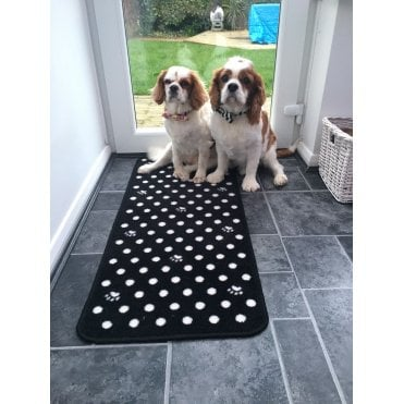 Pet Rebellion Black Dotty Dog Runner