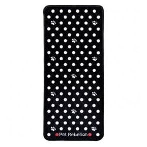 Pet Rebellion Black Polka Dot Runner