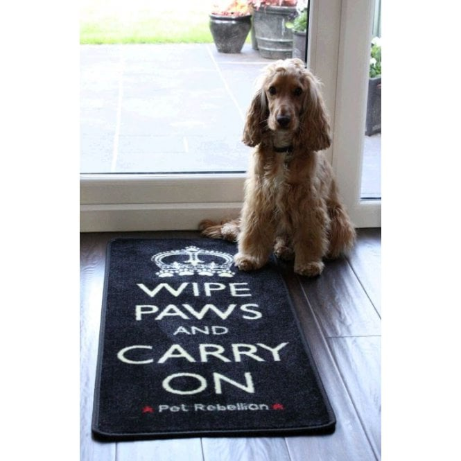 Pet Rebellion Wipe Paws Barrier Rug