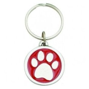 "Pewter ""I Love My Dog"" Key Ring"