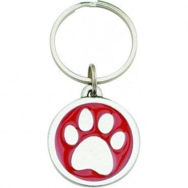 """Pewter """"I Love My Dog"""" Key Ring"""