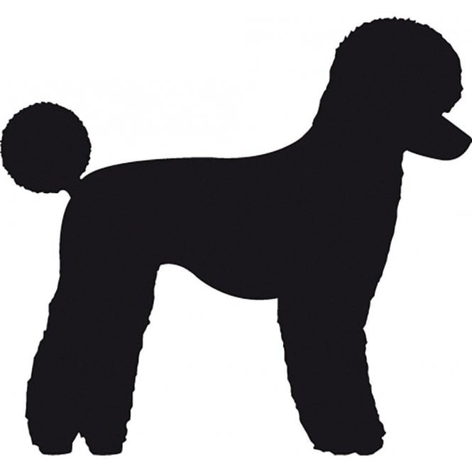 Groomers Poodle Salon Sticker