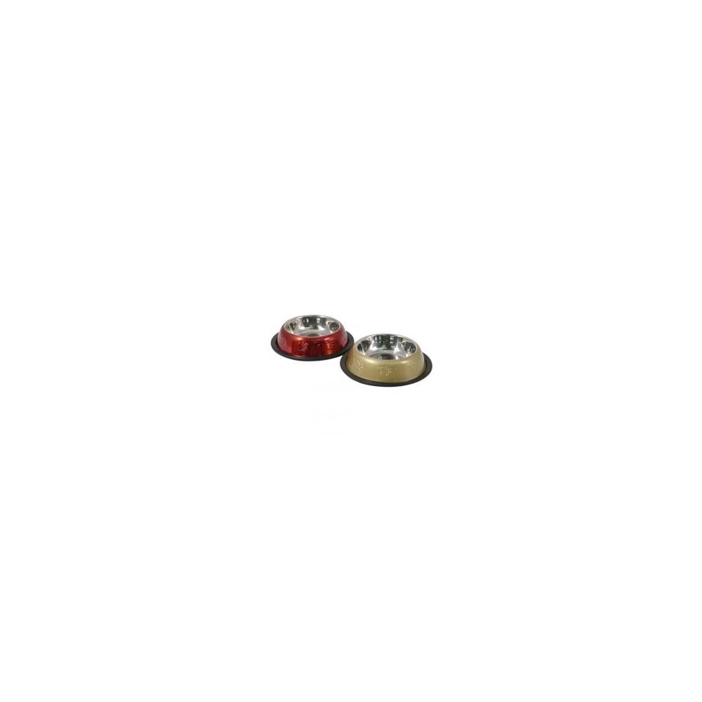 Rosewood Metallic Dog Bowl