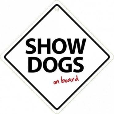 Show Dogs On Board Sign