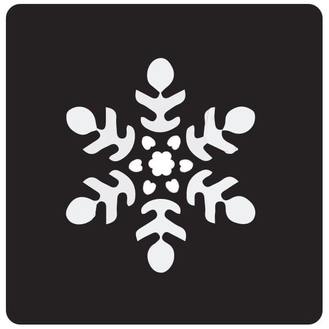 Pet Paint Snowflake Stencil