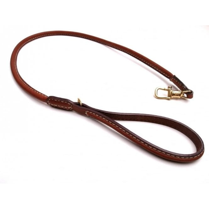 Waifs & Strays All Leather Lead - Tan, Small